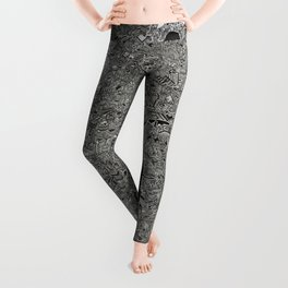 New York nyc map Leggings