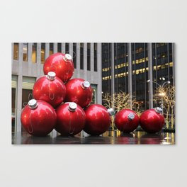 Huge Christmas Ball Ornaments in NYC Canvas Print