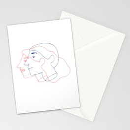 Lines of Love Stationery Cards