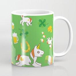 St. Patrick's Day Unicorn Pattern Coffee Mug