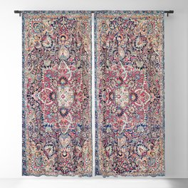 Kashan Central Persian Rug Print Blackout Curtain