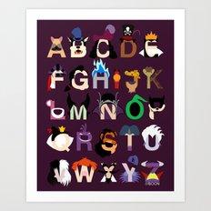 Evil-phabet Art Print