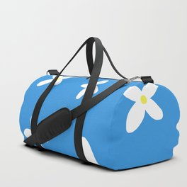 Classic Blue and White Flowers Duffle Bag