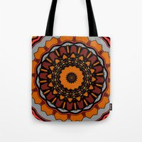 gladiator Tote Bags featuring Furious Gladiator by Silentwolf
