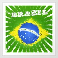 brazil Art Prints featuring Brazil  by morganPASLIER