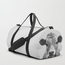 Cow 2 - Black & White Duffle Bag