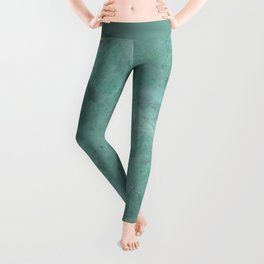 Emerald Green Marble with Gold Leggings