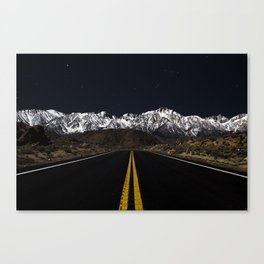 Mountain Drives and Night Skies Canvas Print