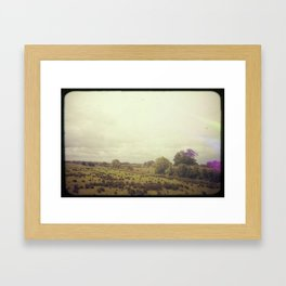 Road Trip Across the Irish Countryside Framed Art Print