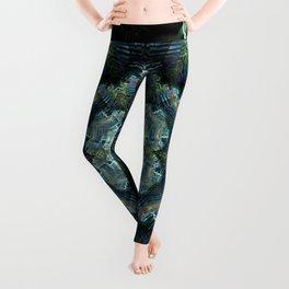 Abstract tweed flower mandala Leggings