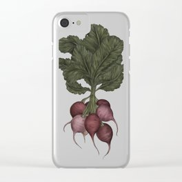 Radishes Clear iPhone Case