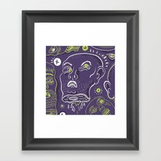 Floating Heads (Halloween Edition) Framed Art Print