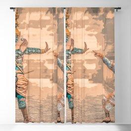 Ramayana Warriors Blackout Curtain