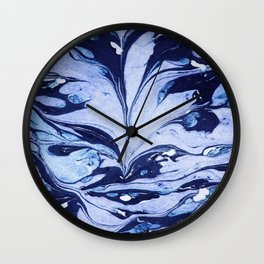 Dark and Bright and Blue Wall Clock