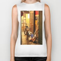 bicycles Biker Tanks featuring Bicycles, light by lonewombatking