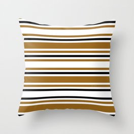 JUST BROWN AND BLACK STRIPES Throw Pillow