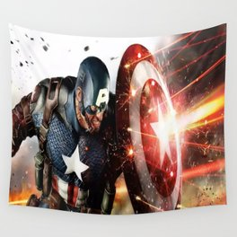 Man Of Captain In America Wall Tapestry
