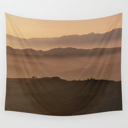 Morning fog clearing over Oxnard Plain Wall Tapestry