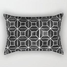 Geometric Lino Printed Pattern Rectangular Pillow