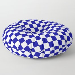 Jumbo Blue and White Australian Racing Flag Checked Checkerboard Floor Pillow