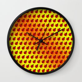 Ladybugs Pattern-Golden Glow Wall Clock