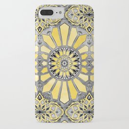 Sunny Yellow Radiant Watercolor Pattern iPhone Case