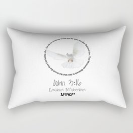 Bible: John 3:16 Rectangular Pillow