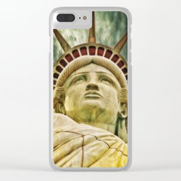 Liberty statue Clear iPhone Case