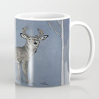 stag Mugs featuring Stag  by Leanna Rosengren