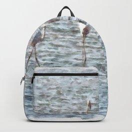 A Flamboyant Pat Of Flamingos Backpack