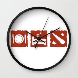 eatsleepdota Wall Clock
