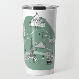 Mapping Paris - Green Travel Mug