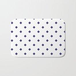 Modern Swiss - Bold Style Cross Plus Sign Bath Mat