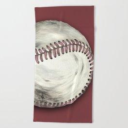 Vintage Baseball Art Beach Towel
