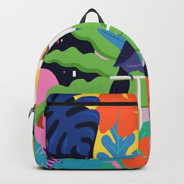 Bold Tropical Jungle Abstraction With Toucan Memphis Style Backpack