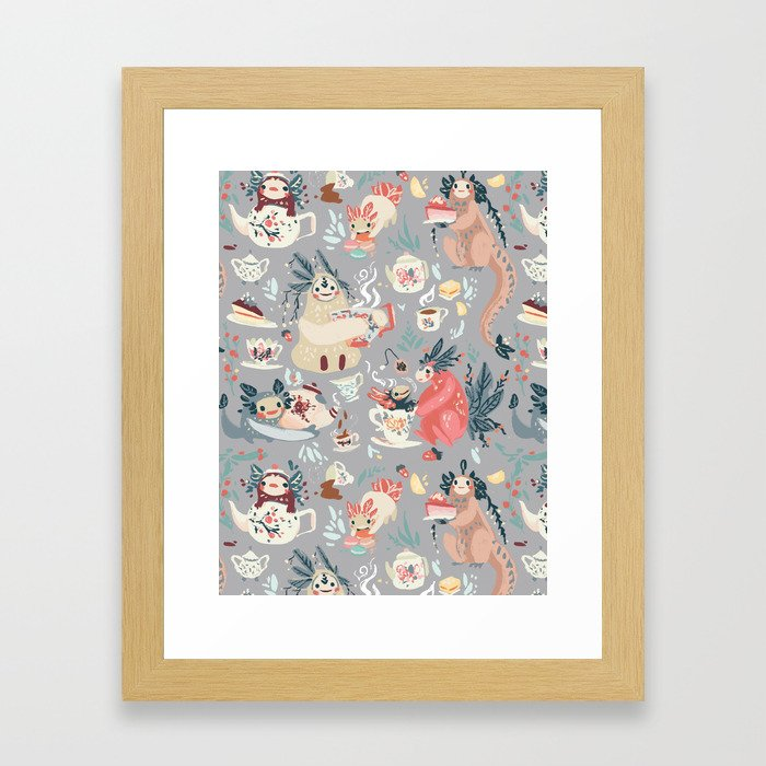 Tea Spirit pattern Framed Art Print