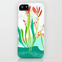 Kangaroo Paw Botanical Illustration iPhone Case