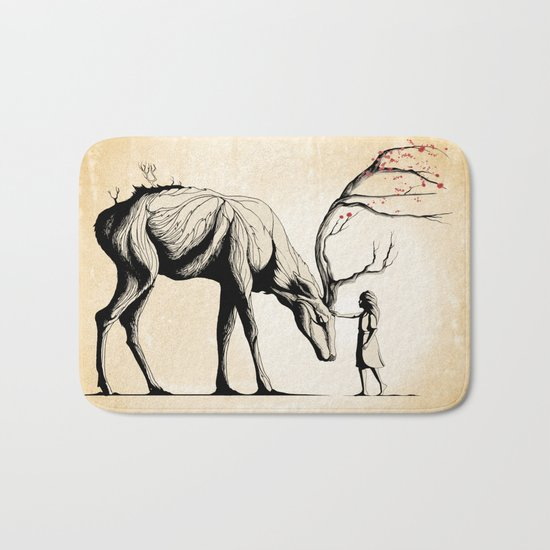 Knowing the Deer Tree Bath Mat