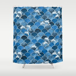 Wave Jumpers (Blue) Shower Curtain