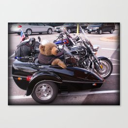 Bear in a Sidecar Canvas Print