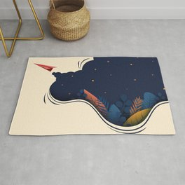 Fly away with me. Rug