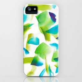 180719 Koh-I-Noor Watercolour Abstract 28| Watercolor Brush Strokes iPhone Case