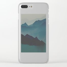 Blue valley Clear iPhone Case