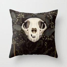 Skull and Bone Throw Pillow