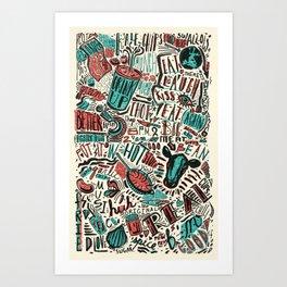 ChiliPot Pattern 1 Art Print
