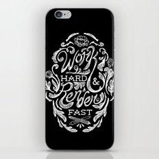 Work Hard & Render Fast Floral iPhone & iPod Skin
