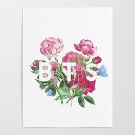BTS Flowers Poster
