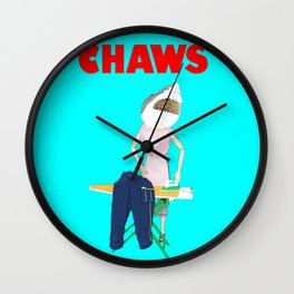 Chaws or Chores! Housewife Humour! Wall Clock