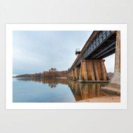 Rustic Leesylvania Bridge Art Print