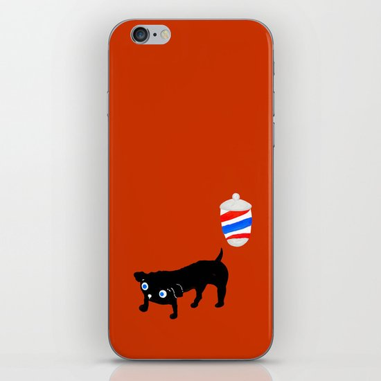 Hairdresser's black dog iPhone Skin